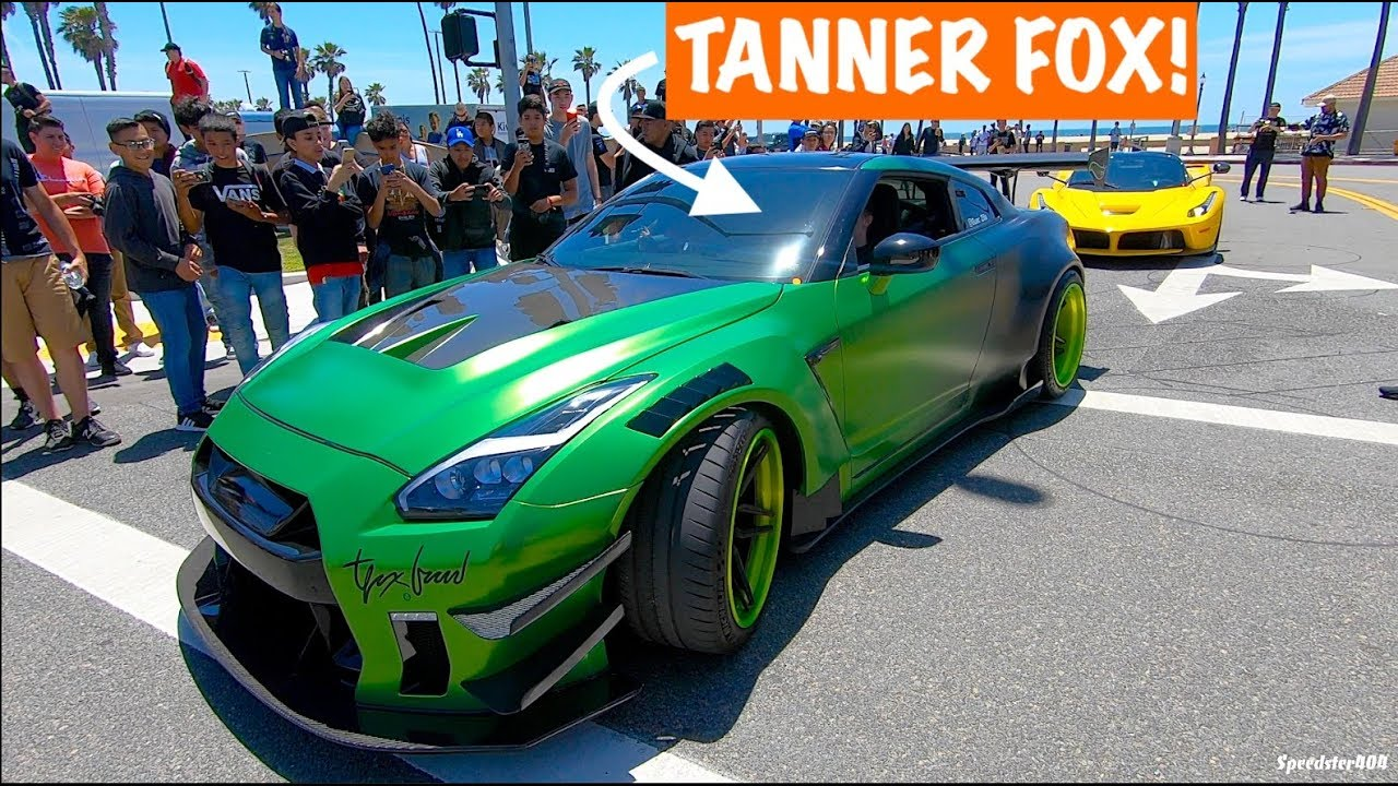 Tanner fox shows off his nissan gtr crowd went crazy guaczilla 2 0 youtube - Tanner fox gtr pictures ...