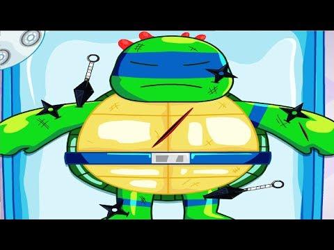 СПАСАЕМ ЧЕРЕПАШКУ НИНДЗЯ в игре мультике для детей Черепашка - ниндзя у доктора Ninja Turtle Doctor