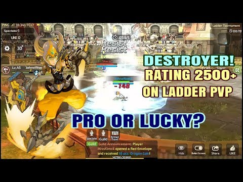 The Best One Destroyer! (`JohneWeed, Rating 2550+) on Ladder PVP Dragon Nest M SEA