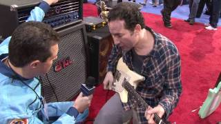 Blues Saraceno demos the new Music Man Albert Lee