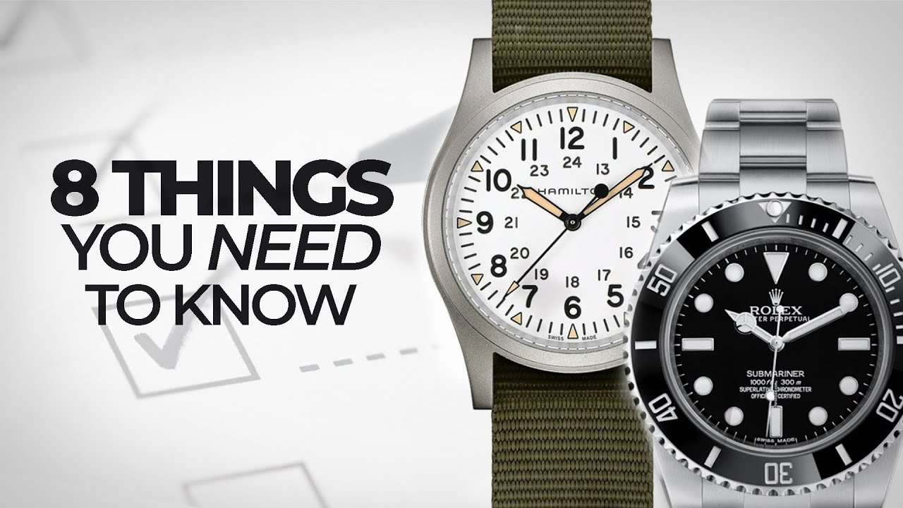 Download 8 Things You NEED to Know About Watches - A Crash Course to Watches