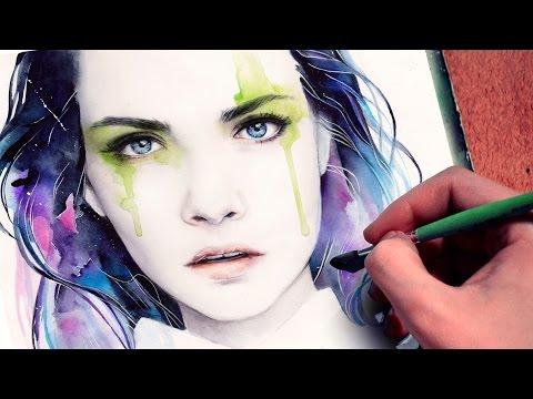 【WATERCOLOR PORTRAIT】 Cara Delevingne inspired