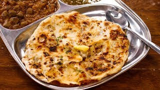 Amritsari Kulcha Recipe | Perfect Crispy Layered Aloo Naan in Tawa - CookingShooking