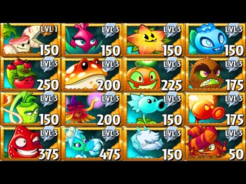All Premium Plants Power-Up! in Plants vs. Zombies 2