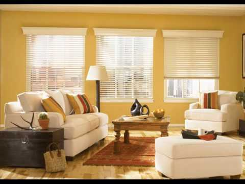 Blinds for Living Room Windows with Curtains - YouTube