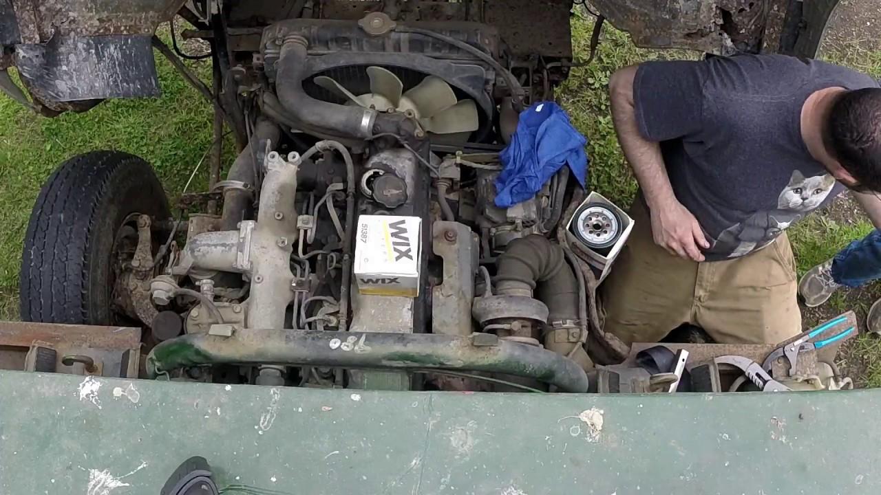 Maintenance on Mitsubishi 4x4 Fuso FG Dump Truck and Mulch Run