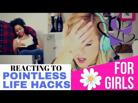 Irish Girl Reacts to Pointless Life Hacks for Girls