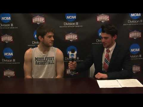 Middlebury College's Jack Daley before the NCAA Opening Round