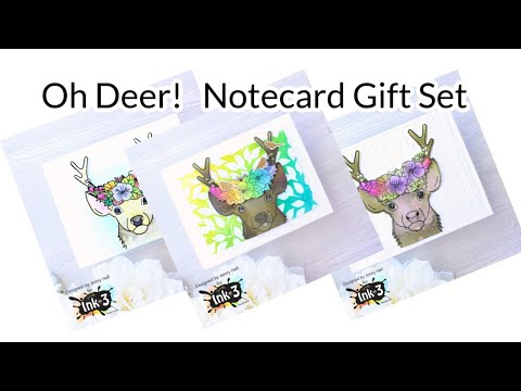 Oh Deer! Notecards with Ink on 3
