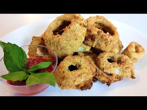 Air Fried Onion Rings Made in the Power Air Fryer Oven