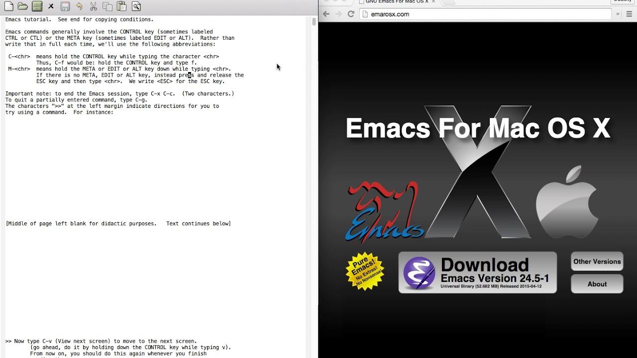 I. 1 emacs tutorial installing emacs youtube.