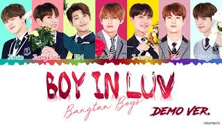 Demo Ver Bts 방탄소년단 39 Boy In Luv 39 상남자 Color Coded Han Rom Eng