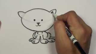 How to Draw a Cartoon Kitten | MAT