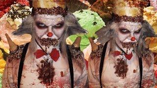 Scary Ice Cream Clown - Burtonesque - FACE OFF - Makeup Tutorial!