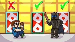 *SECRET* ROBLOX LUCKY BLOCK DOORS In Minecraft! - Lucky Block Doors Mini-Game