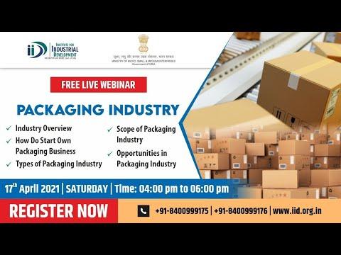 Free Online Webinar On Packaging Business