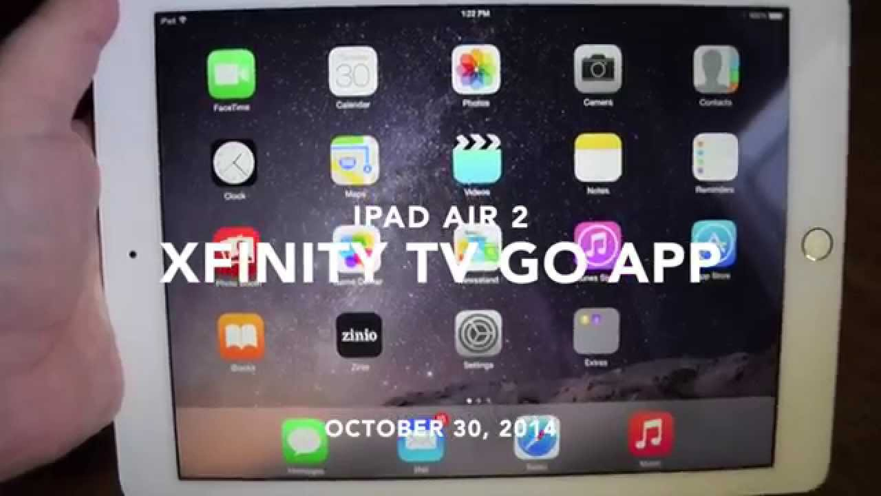 ipad air 2 xfinity tv go app watch live tv on your ipad youtube. Black Bedroom Furniture Sets. Home Design Ideas