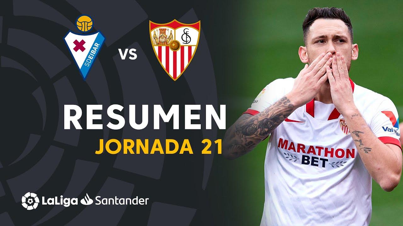 Resumen de SD Eibar vs Sevilla FC (0-2)