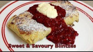How To Make Savoury & Sweet Blintzes Video Recipe Cheekyricho