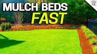 How to MULCH lawn and garden BEDS FAST