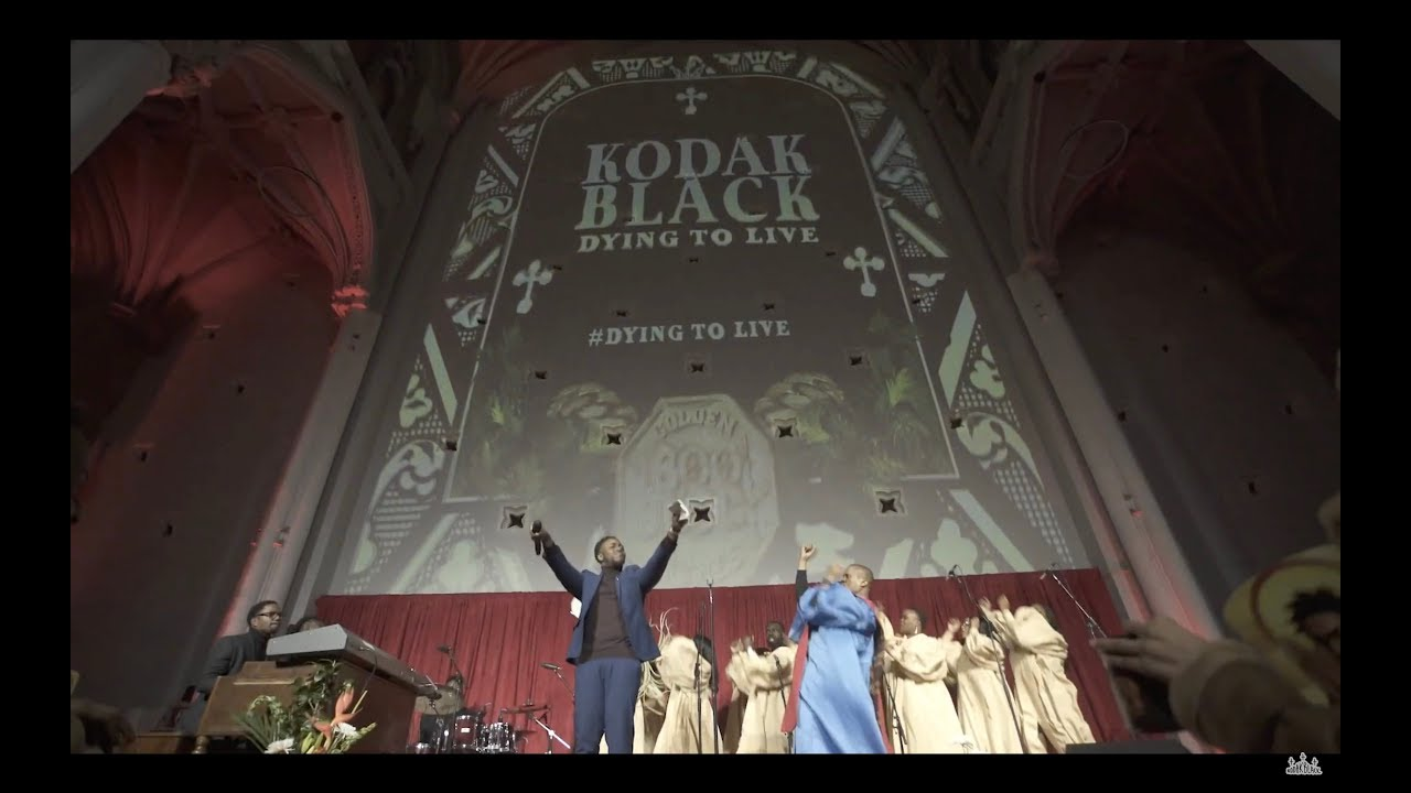 Choir Performs at Kodak Black Dying to Live Listening Event in NYC