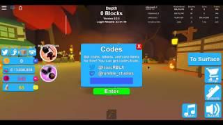 Roblox mining simulator codes!