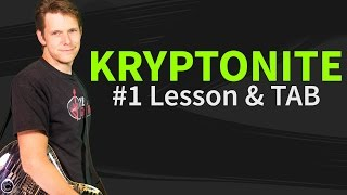Gambar cover How To Play Kryptonite Guitar Lesson & TAB - 3 Doors Down