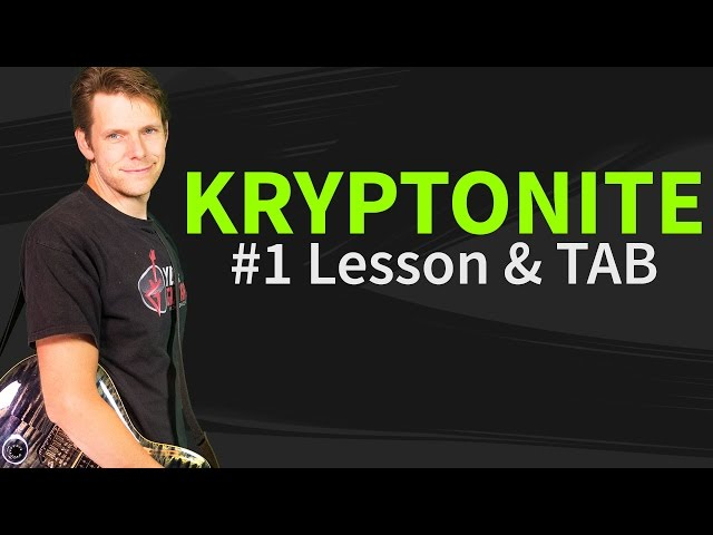 Guitar kryptonite guitar tabs : How To Play Kryptonite Guitar Lesson & TAB - 3 Doors Down - YouTube