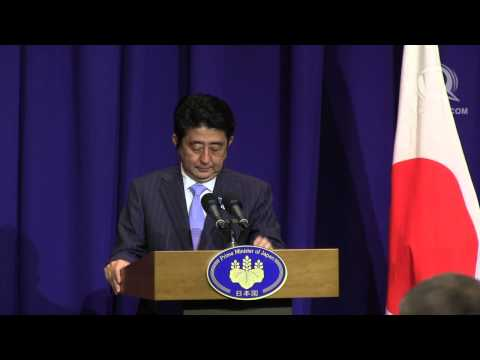Japan's Abe: 'Make Asia Pacific free, open'