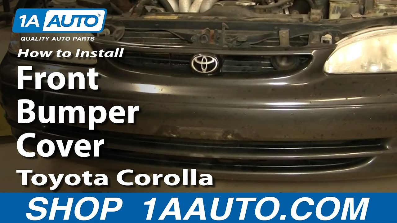 how to install replace front bumper cover toyota corolla 98 02 y. Black Bedroom Furniture Sets. Home Design Ideas