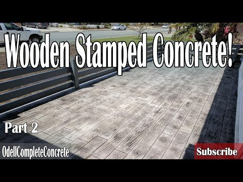 How to Pour a Wooden Stamped Concrete Patio, Front Yard Remodel Part 2