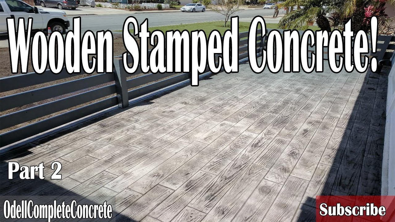 Stamped Concrete Wood Pattern Magnificent Decorating