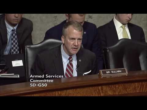 Sen. Dan Sullivan (R-AK) at a Senate Armed Services Committee Hearing - June 6, 2017
