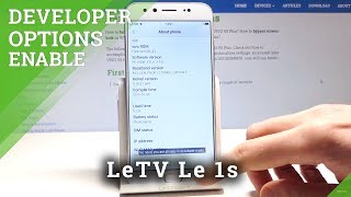 How to Access Developer Options on LeTV Le 1s - OEM Unlock / USB Debugging