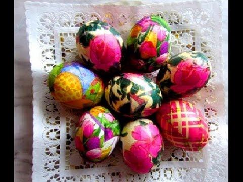 Ouă vopsite cu Servetele anyta