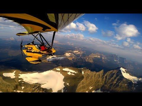 INSANE 12,000 feet Ultralight Flight over Glacier National Park Flight in 2017