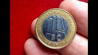 Interessante Moeda Usada Dos 40 Anos do Banco Central do Brasil. No Vídeo Descrições Desta Moeda.