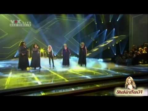 [HD] Shakira - Underneath Your Clothes ft. Big Soul (X Factor Germany)