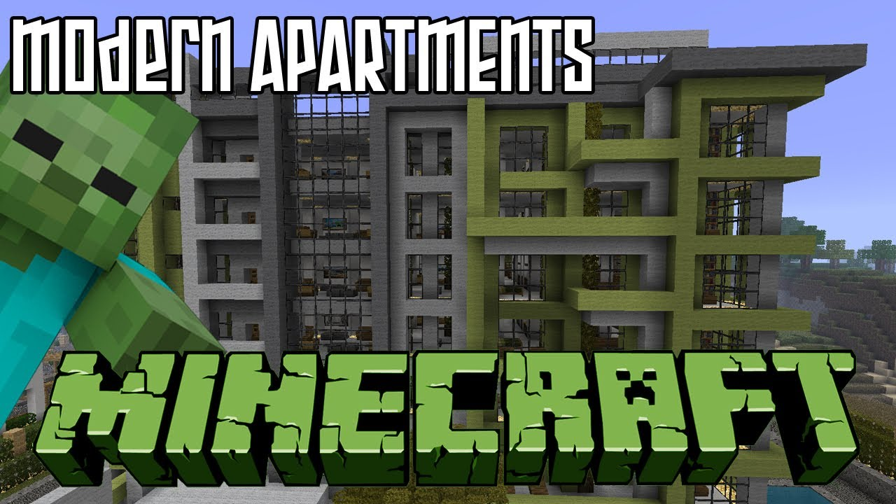 minecraft modern apartments hd - youtube