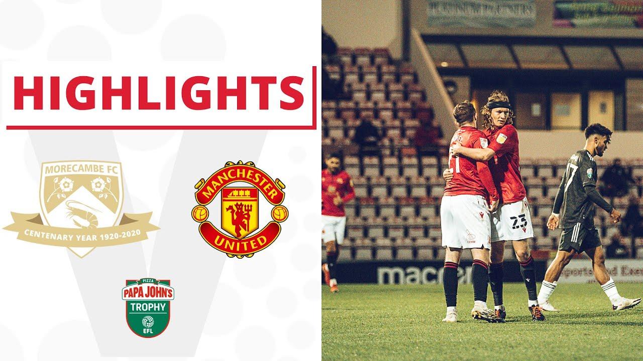 Моркам  4-0  Манчестер Юнайтед U21 видео
