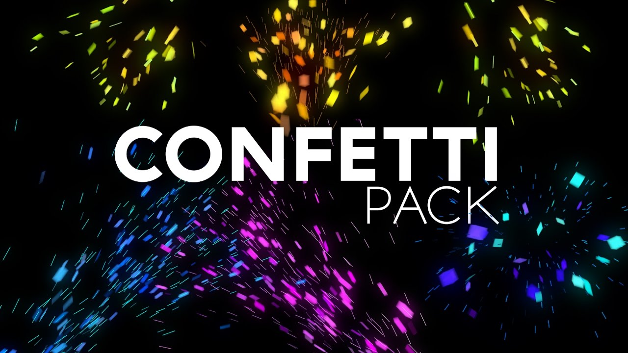FREE Confetti After Effects Project File [Download]
