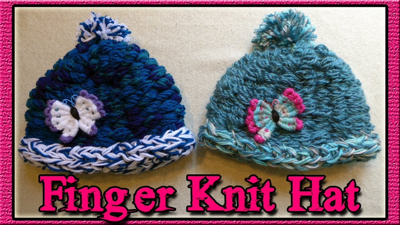 How to finger knit a hat youtube bankloansurffo Images