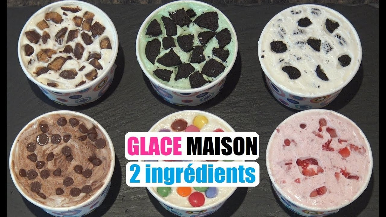 Recette Glace Maison 2 Ingredients Facile Et Sans Sorbetiere Youtube
