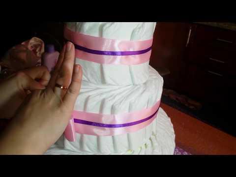 Вопрос: Как сделать торт из подгузников?