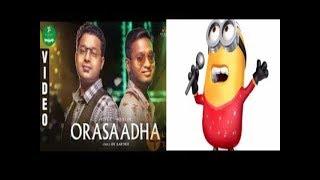 7up madras gig orasaadha vivek mervin lyrics minion singing