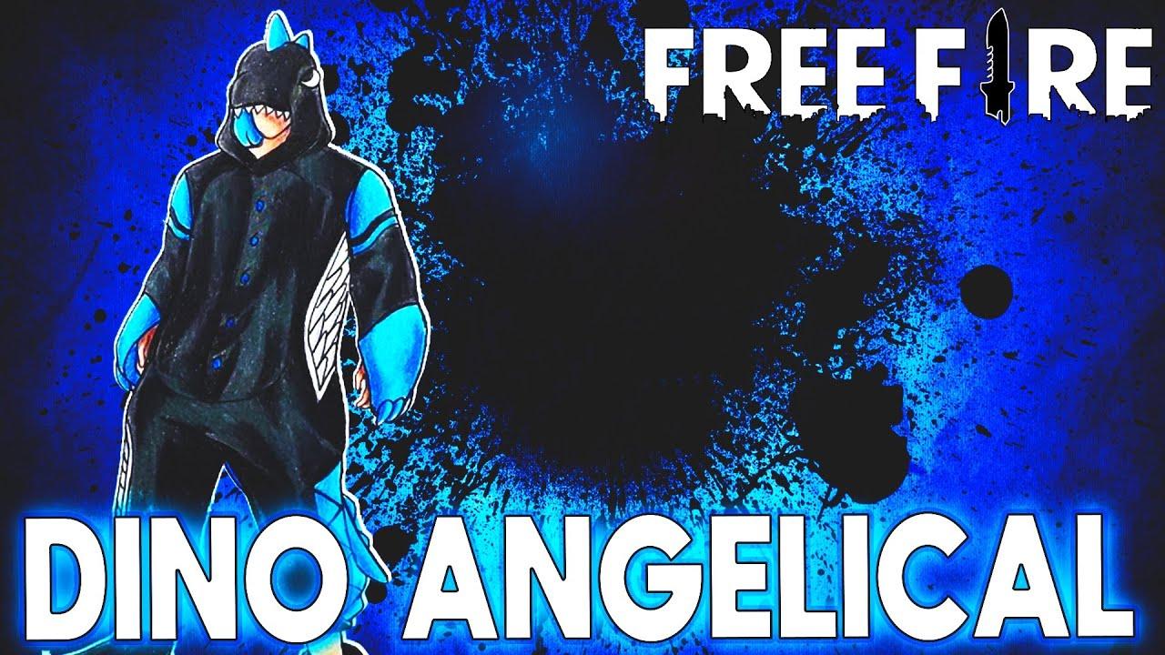 peguei o novo dino angelical  free fire  youtube