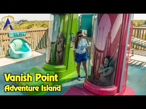 Vanish Point drop slides POV and reactions at Adventure Island in Tampa