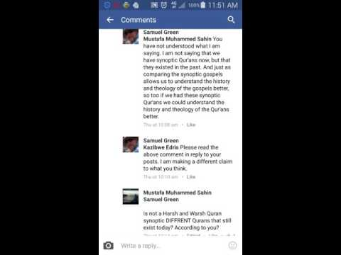 Christian Apologist Samuel Green Hypocrisy is there ONE Quran Today Part 2/2