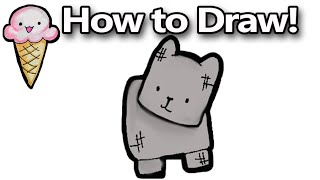How to Draw a Minecraft Dog Kawaii Cute Cartoon
