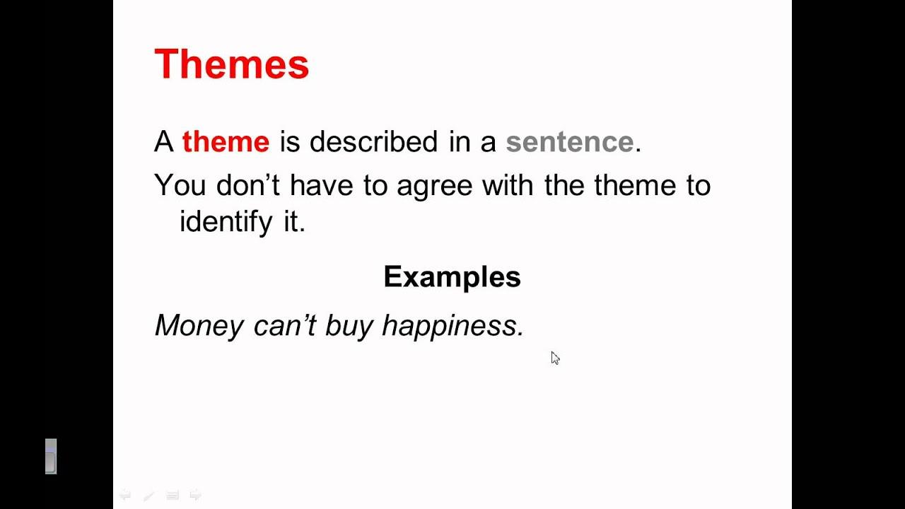 Theme Plus Finding Meaning In Theme Youtube